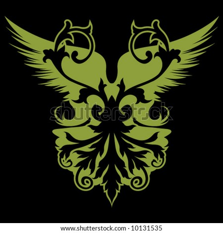 Winged Flourish - stock vector