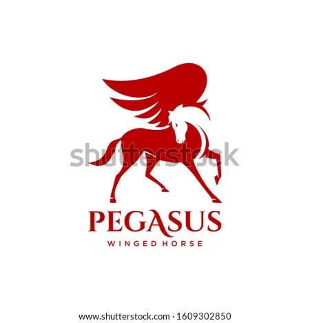 winged horse pegasus simple