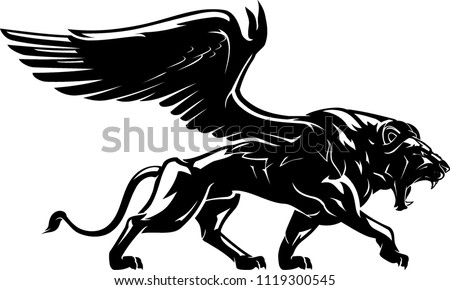 Winged Lion Mythical Creature