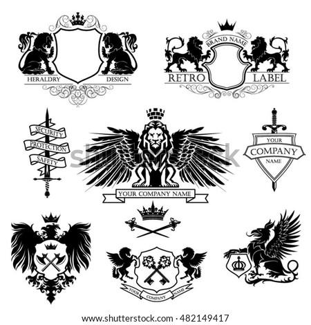 winged lion set coat of armsa