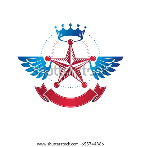winged military star emblem