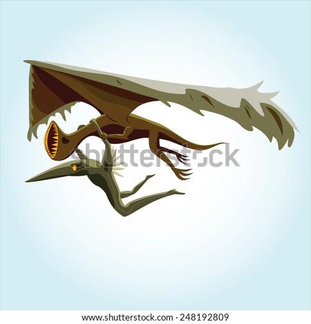 wingless dinosaur monster bird