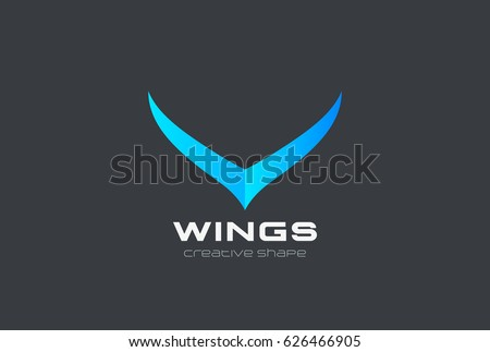 Wings abstract Fashion Logo design vector template.