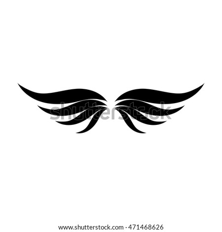 Wings design over white background