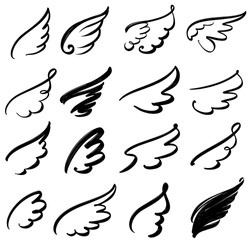 Wings icon sketch collection cartoon  hand drawn vector illustration sketch