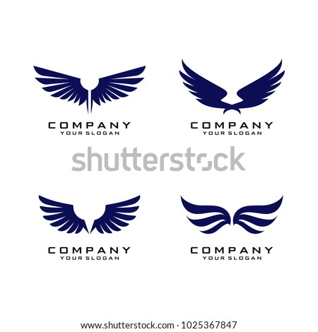 Wings Logo Template Vector