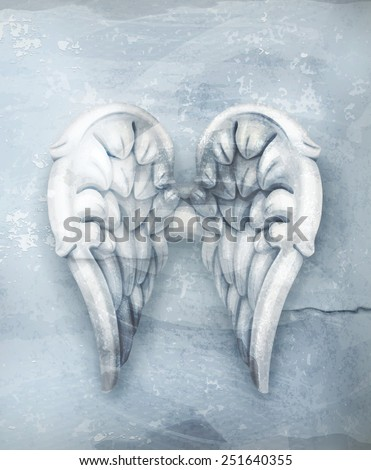 Wings, old style vector