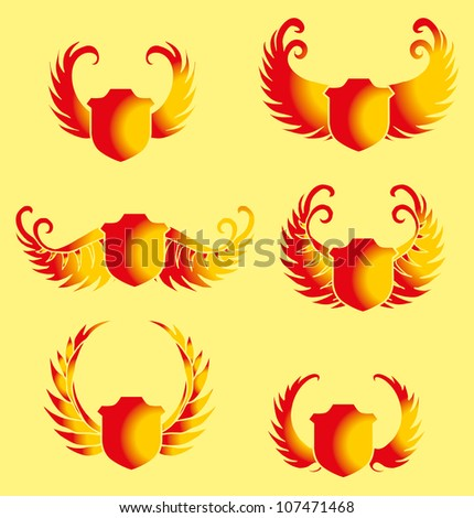 Stock Photo wings shield