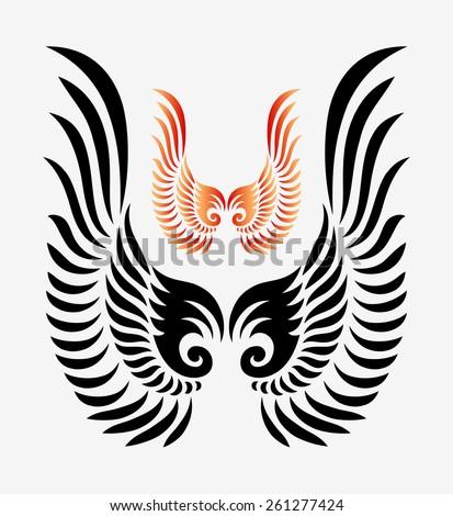 wings tribal ornament