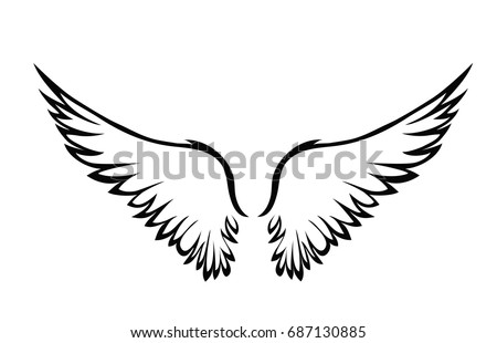 white wings illustration download free vector art stock graphics rh vecteezy com wings vector free wind vector input