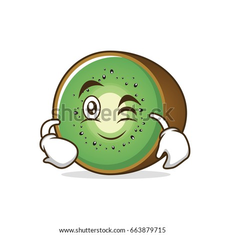 wink kiwi fruit cartoon