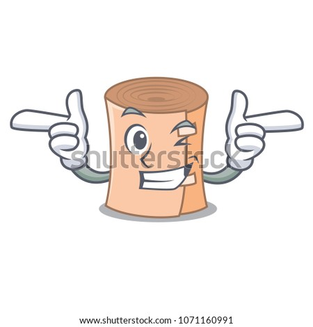 Wink medical gauze character cartoon vector illustration
