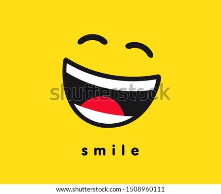 wink smile icon template design
