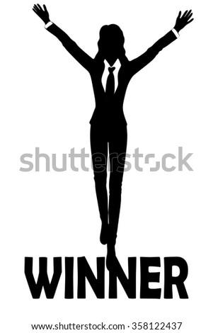 winner concept  business woman