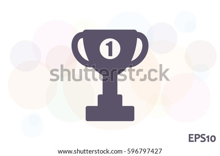 winner cup vector icon