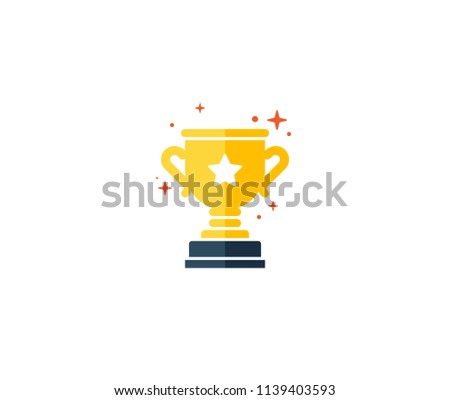 winner cup vector icon, reward program, first place, game trophy, win super prize, earn points, flat illustration, achievement illustration, accomplishment concept, trophy logo template