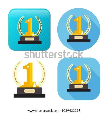 winner icon - gold prize - vector prize - champion emblem - success symbol