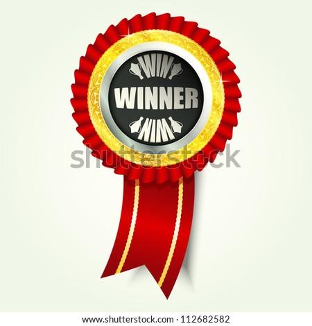 winner icon, vector illustration