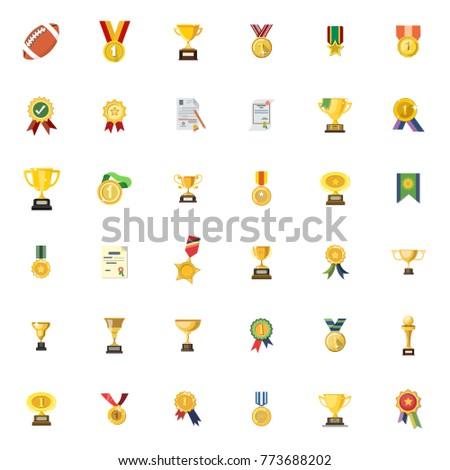 Winner icons set