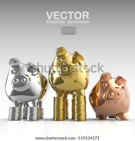 winner piggy bank as concept