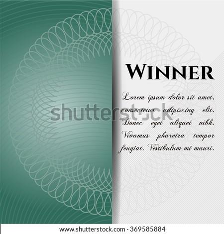 Winner poster or banner