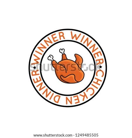 Winner winner chicken dinner badge for pubg game. Player unknown's battleground supply vector