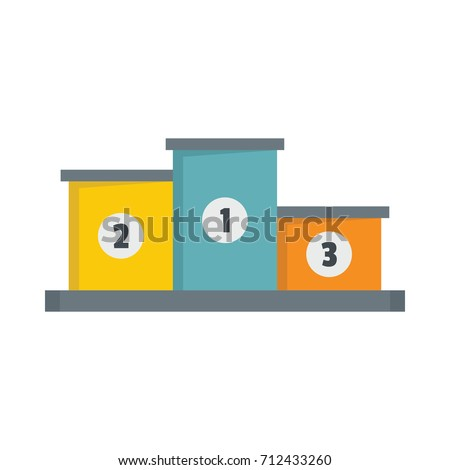 Winners podium vector illustration for design and web isolated on white background. Winners podium object for label and advertising