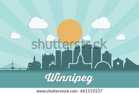 winnipeg skyline   canada