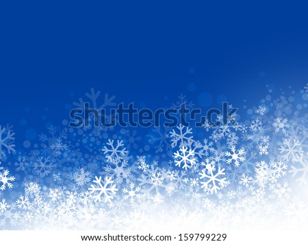 winter abstract snowflake