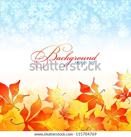 winter and autumn  vector