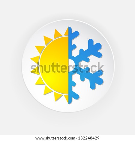 winter and summer icon  symbol