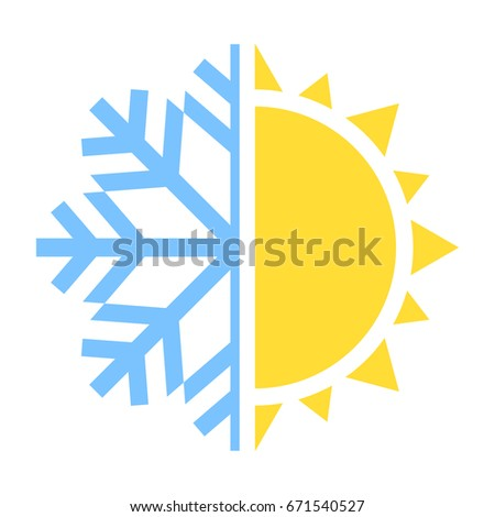 winter and summer icon vector