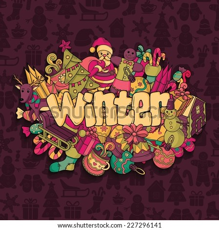 Winter background. Vector illustration