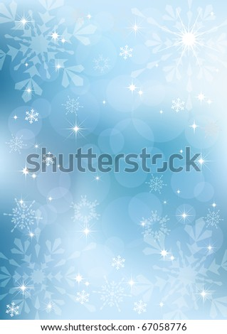 Winter background. Vector  illustration. EPS10.