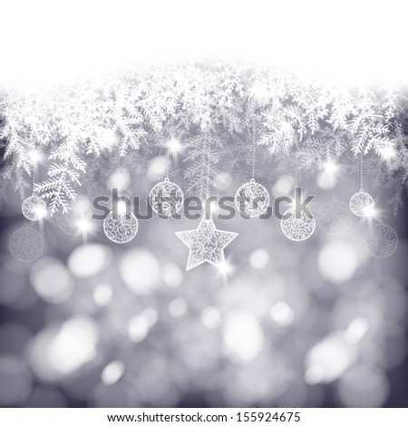 winter background  white fir