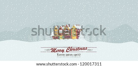 winter background with a