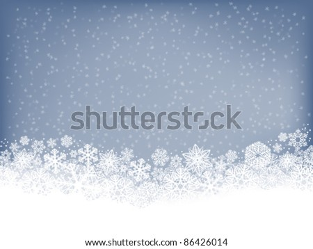 Winter background with falling snow