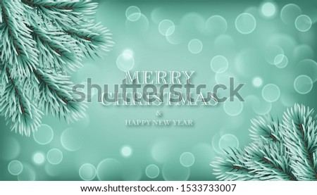 winter background with