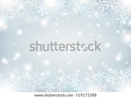 winter background with snow and