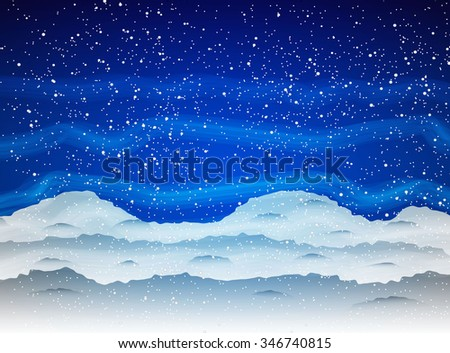 winter background with snowfall