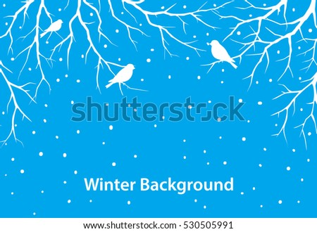 winter  background with tree