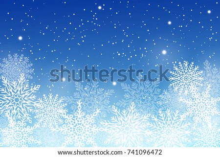 winter background with white