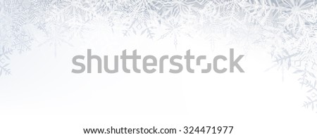 winter banner pattern with
