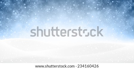 winter banner with snow