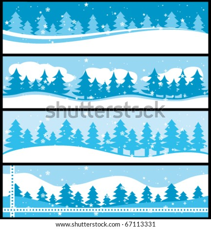 Winter banners. Christmas commercial vector collection.