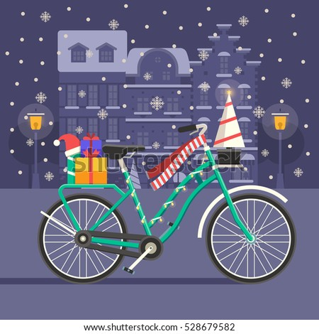 Download Snowy Bicycles Wallpaper 1920x1080