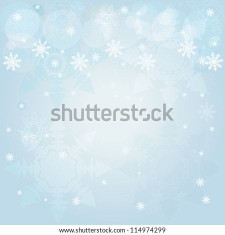 Winter blue background : An illustration of winter blue background with snowflakes