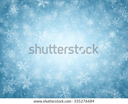 winter blue background with