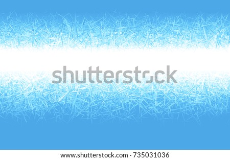 winter blue frost background