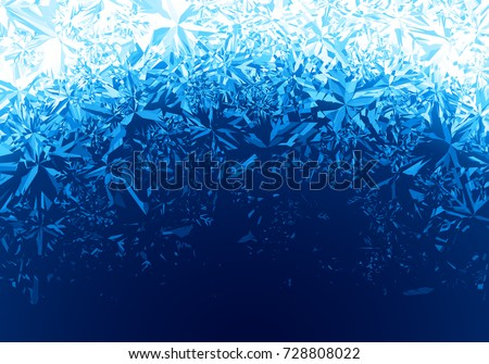 Winter blue ice frost background. Eps8. RGB Global colors. One editable gradient is used for easy recolor